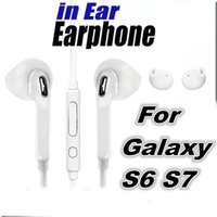 Wholesale Chinese Universal Remote Control - In-Ear headphone White Earphone Earbuds with Remote control MIC for Samsung Galaxy S6 S7 Earphone Earbuds I6 I5 6S 7 7Plus headset Universal