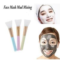 yüz bakım araçları toptan satış-Profesyonel Silikon Yüz Yüz Maskesi Çamur Karıştırma araçları Cilt Bakımı Güzellik Makyaj Fırçalar Vakfı Araçları maquiagem