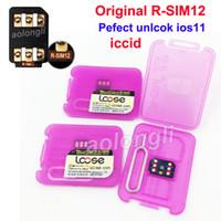 Wholesale Unlock Sim For Cdma - New RSIM12 Pefect unlcok ios11 automatically ICCID r sim 12 Original RSIM 12+ RSIM12 Unlocking for iOS 11.x-7.x 4G CDMA GSM WCDMA SB Sprint