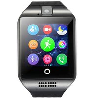 teléfono inteligente mini reloj al por mayor-Para Iphone 6 7 8 X Bluetooth Smart Watch Apro Q18 Mini cámara deportiva para iPhone Android Samsung Smart Phones GSM SIM Touch pantalla táctil