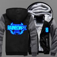 Wholesale cosplay six online - 2018 Tom Clancy s Rainbow Six Siege Winter Coat Game Cosplay Mens Cashmere Hoodies Thicken Coat Fleece Sweatshirts Cotton Jacket
