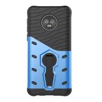 hibrid robot cep telefonu kılıfı toptan satış-Sniper Hibrid Robot Zırh Darbeye 360 Kickstand Geri Motorola Moto G6 Artı için Yumuşak cep telefonu kılıfı Kapak