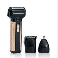 afeitadora eléctrica recargable a prueba de agua al por mayor-Afeitadora eléctrica 3 en 1 Depiladora Impermeable Profesional Nariz Oreja Trimmer Recargable Trimmer Trimmers