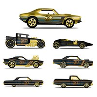 Wholesale hot wheels diecast - Hot Wheels Car Collector's Edition 50th Anniversary Black Gold Metal Diecast Cars Toys Vehicle For Children Juguetes FRN33