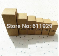 Wholesale Personalized Gift Paper - free shipping 50 pcs a lot 100ML 48x48x124mm blank essential oil packing box Handmade gift packing box DIY kraft paper boxes