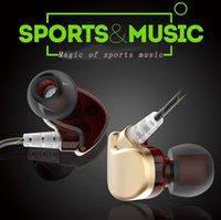 bas bakır toptan satış-Yeni stil mic ile bas istihbarat kablolu kontrol stereo denoise su geçirmez spor müzik oksijensiz bakır wireslexible kulak yükseltici kulaklık