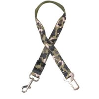 Wholesale camo dog collars online - Camo Leopard Print Small Dogs Car Safety Seat Belt Puppy Pet Cat Life Belt Leash Used for Collar Harness ZA6035