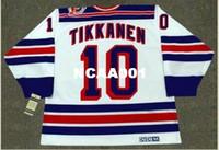 Wholesale 1994 New York Rangers - Mens #10 ESA TIKKANEN New York Rangers 1994 CCM Vintage Throwback Home Hockey Jersey or custom any name or number retro Jersey