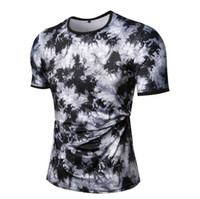Wholesale summer man cool t shirt resale online - New Splash Ink Print Black T shirt Simple Summer Cool Tee Fashion Casual Men Women Street Skateboard Short Sleeves