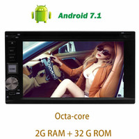 Wholesale 3g transmitter - Android 7.1 Car Stereo Headunit trip computer Double Din car DVD CD Player In Dash Octa-core GPS Navigation WiFi 4G 3G OBD2