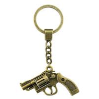 chaveiro da pistola venda por atacado-2 Cores 29 * 22mm Gun KeyChain, Pistola Anéis, Nova Moda Handmade Metal Keychain Presente Do Partido