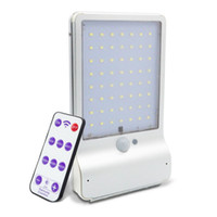 Wholesale pole street resale online - Solar Motion Sensor Wall Lamp LED LM Remote Control Modes Aluminum Alloy Outdoor Emergency Waterproof IP65 Pole Light