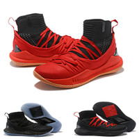 Wholesale Kd Shoes High Cut - 2018 New Arrival MVP #30 Men's V 5 High Black Gold Silver Red KD Basketball Shoes for Top quality Designer 5s Zapatillas Sport Sneakers 7-12