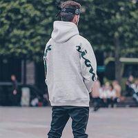 art und weise beiläufige männer hoodies großhandel-TOP QUALITÄT Box Logo x Cham Kapuzenpulli Fashion Frühling Herbst Hoodies Pullover Street Casual Einfache Männer Frauen Hoodies HFYMWY104