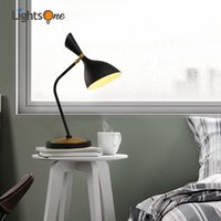 Wholesale decorative iron works - Nordic minimalist wrought iron adjustable angle creative decorative table lamp bedroom hotel bedside table lamp