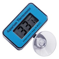 Wholesale fish display tanks - 10pcs Digital LCD display aquarium water temperature mesaurement Thermometer sticker suction accuracy 0.1 fish tank Thermograph