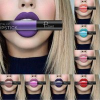 Wholesale mixing red purple lipstick for sale - Group buy DROP ship PUDAIER Matte Liquid Lipstick Colors Waterproof Velvet Nude Purple Black Red Lip Tint Soft Lip gloss Lips Cosmetics
