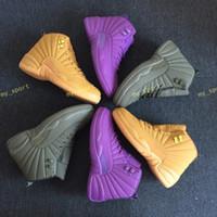 chaussures de sport achat en gros de-Dropshipping 12s Blé Bordeaux PSNY Le Maître Noir Laine Jeu De La Grippe Chaussures De Basketball 12 Xii Chaussure De Sport Hommes Athlétisme Discount Sneaker