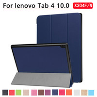 Wholesale tablet tab4 resale online - For Lenovo Tablet Tab TB X304F N Ultra Thin Stand PU Leather Cover Case for Lenovo Tab4 inch