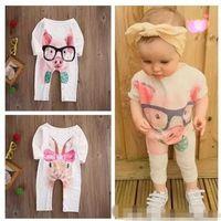 Wholesale infant pig - High quality Kid clothes Newborn Infant Baby Girl Bodysuit Rabbit Pig Animal Romper Jumpsuit Outfits Sunsuit Clothes 0-24M B11