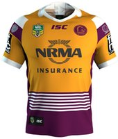 Wholesale Quality Quick Printing - 2018 NRL JERSEYS BRISBANE BRONCOS heritage Rugby Brisbane Rugby jersey broncos best quality 2017 2018 rugby shirts size S - 3XL (Can print)