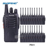 Wholesale uhf station - 20pcs lot Baofeng BF-888S Talkie Walkie UHF 400-470mhz Ham Radio FM Transceiver Hunting Radio Portable Handheld CB Station