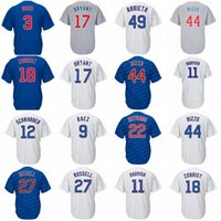 Wholesale Cool Boys Shorts - Youth Chicago #17 Kris Bryant 44 Anthony Rizzo 9 Javier Baez 18 Ben Zobrist Arrieta Ross Cool Base Champions Baseball Jerseys Stitched