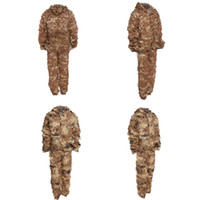 ingrosso caccia 3d camouflage-Caccia Camo 3D Bionic Leaf Camouflage Caccia alla giungla Ghillie Suit Set CS Savage Kit Desert Gobi Grassland Sniper Ghillie Bionic