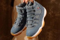 Wholesale jeans cut man - 2018 New 11 11s Denim LS NRG Blue Jeans Travis Mens Basketball Shoes Men Sneakers High Quality With Shoes Box