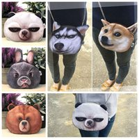 Wholesale dog gym - 3D Cute Printing chain bag,Dogs, panda, rabbit single shoulder bag Women Shoulder Messenger Bag Chain Bags EEA303 10pcs