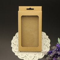 Wholesale blank cell phone cases for sale – best 100Pcs Cell Phone Case OEM Blank kraft paper Retail Package Plastic Paper Box Packing for iPhone Case with inner Tray