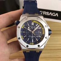 Wholesale Top Brand Divers Watches - Top Luxury Mens Watches Men Luxury Brand aaa+ Quality Sport Diver watches 42mm 15703ST Mechanical Mens Watches reloj de waterproof 50M