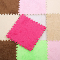 Wholesale girls rugs - 9pcs set 30x30x1cm Children Soft Plush Play Mat Baby EVA Foam Splicing Floor Mats Kids Rug Carpet Playmat for Infant Boys Girls