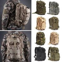 Wholesale tactical molle fabric - 12 Colors 30L Hiking Camping Bag Military Tactical Trekking Rucksack Backpack Camouflage Molle Rucksacks Attack Backpacks CCA9054 30pcs