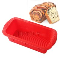 Wholesale bakeware loaf pans resale online - Rectangle Shape Toast Bread Silicone Mold Silicone Jelly Ice Baking Mold DIY Cake Decorations Loaf Pan Bakeware