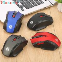 pc drahtloser spielempfänger großhandel-Zuverlässige gaming mouse 6key 2,4 Ghz Mini Drahtlose Optische Gaming Maus Mäuse USB Empfänger Für PC Laptop