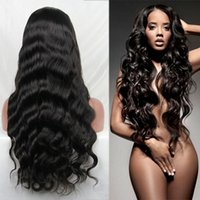 Wholesale bank wave - 180 density body wave lace front human hair wigs for black women Full Lace Wigs Pre Plucked Hairline With baby hair bleached knots