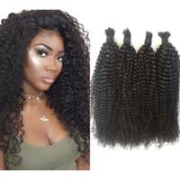 Wholesale afro human hair for black women for sale - Tight Curly Human Hair Bulk a b Burmese Hair Afro Kinky Hair Bulk No Weft for Black Women FDshine