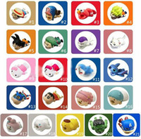Wholesale apple chopper resale online - Cable Bite Zoro Chopper Luffy ELMO kitty Shnnosuke Doraemon Cartoon Animal bite cable Protector Charger Cord cable bites for iPhone