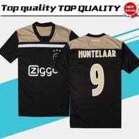 Wholesale football 14 - New Ajax away Soccer Jersey 18 19 Ajax away balck Soccer Shirt 2019 Customized #14 CRUIJFF KLAASSEN DOLBERG NOURI football uniform Sales
