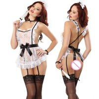 Wholesale french clothing sizes online - 2018 Women Halloween Costumes Sexy Dress Bowknot French Maid Costumes Princess Women Clothing cosplay Dress
