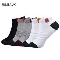 calcetines de algodón clásicos al por mayor-Jumeaux Eu 35-45 Calcetines de hombre de alta calidad Algodón Fibra de bambú Calcetines de montaña de malla transpirable clásicos Hombres calientes 4-5 pares / set