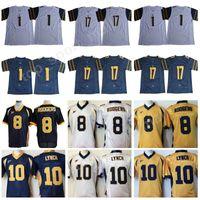 Wholesale aaron rodgers jerseys - California Golden Bears 8 Aaron Rodgers Jersey Men College Football 1 DeSean Jackson 10 Marshawn Lynch 17 Vic Wharton III 1 Melquise Stovall
