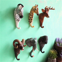 Wholesale Vintage Stereos - Vintage Wall Hook Stereo Animal Shape Hat Pothook For Coffee Shop Bar Decoration Hanging Hooks New Arrival 7 99bd Y