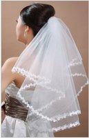 applique haarzusätze großhandel-Tulle Appliques Brautschleier One Layer Weiß Elfenbein Rot Braut Haarschmuck Tulle Short Günstige Braut Hochzeit Haarschleier