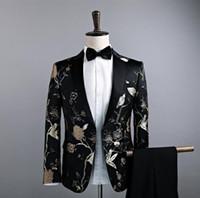 ingrosso tipi maschile-Nuovo tipo di coltiva la moralità degli uomini cappotto singolo vestito piccolo vestito floreale il vestito cantante maschile costumi discoteche S - XXL