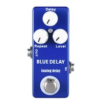 Wholesale Delay Guitar - MOSKY Analog Delay Guitar Effect Pedal Mini Size Blue Delay True Bypass