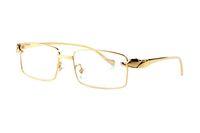 volle schwarze platte großhandel-Modedesigner Leopard Sonnenbrille 18 Karat vergoldet Vollformat optische Gläser transparent Objektiv braun schwarz Objektiv mit Originalverpackung