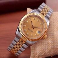 Wholesale clock for sale - Group buy Mechanical Automatic men calendar black bay designer diamond watches high quality women dress rose gold clock reloj mujer