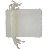 saco de presente de organza marfim venda por atacado-100 Pçs / lote marfim ORGANZA Sacos de Presente de Casamento Premium Favor de Embalagem de Jóias Presente Bolsas